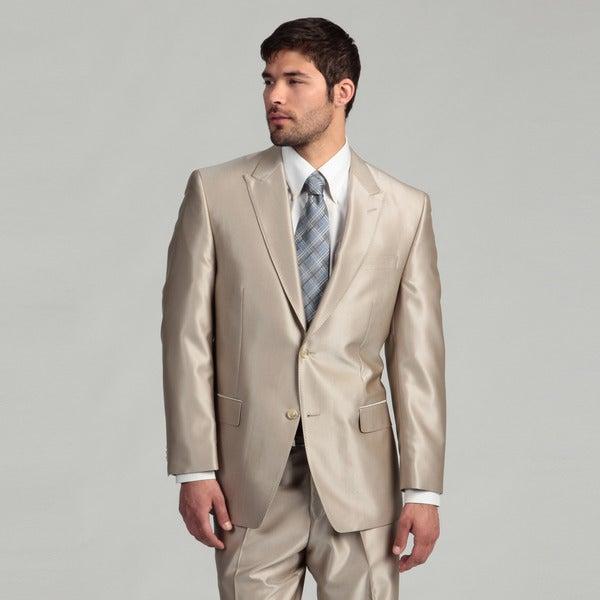 Sean John Men's 2-button Tan Wool Suit FINAL SALE