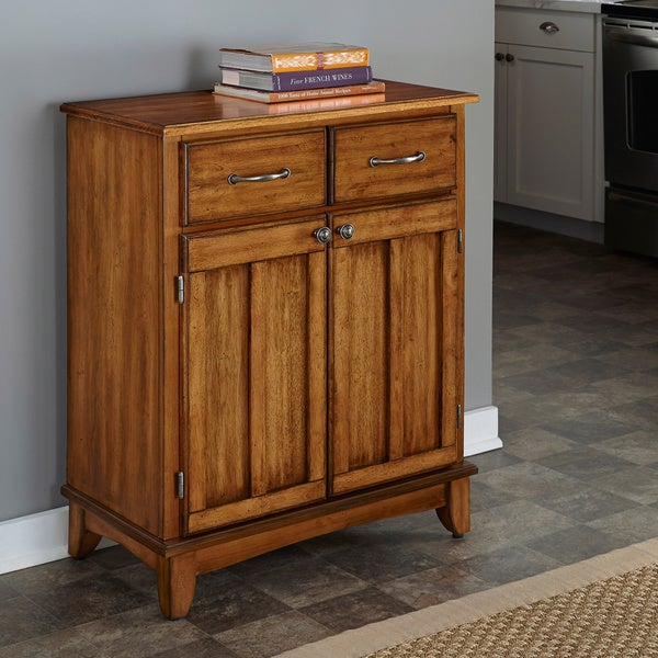 Cottage Oak Buffet with Wood Top by Home Styles