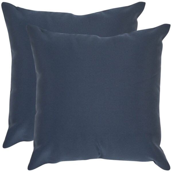 Safavieh Poolside 20-inch Outdoor Navy Pillows (Set of 2)