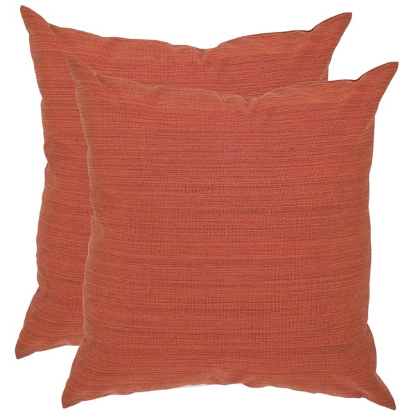 Safavieh Poolside 20-inch Outdoor Sienna Pillows (Set of 2)