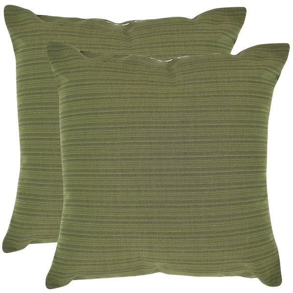 Safavieh Poolside 20-inch Outdoor Green Pillows (Set of 2)