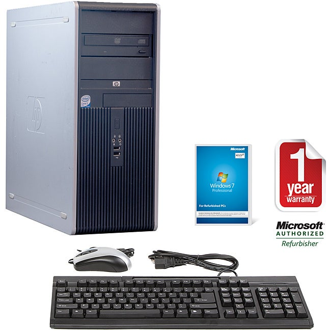 HP Compaq DC7900 Intel Core 2 Duo 2.66GHz CPU 2GB RAM 250GB HDD Windows 10 Pro Minitower Computer (Refurbished)