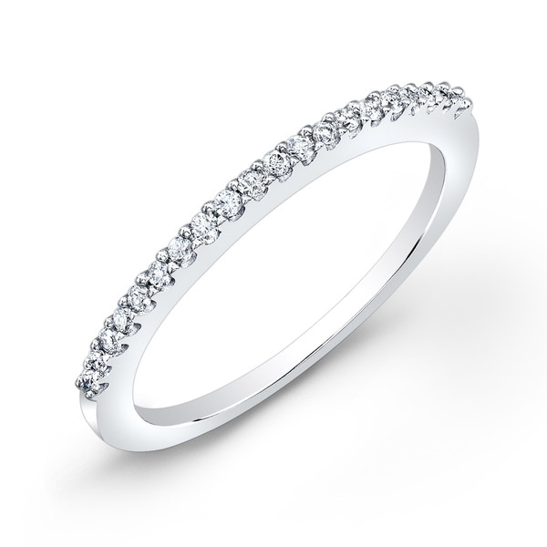 Auriya 10k Gold 1/10ct TDW Diamond Stackable Wedding Band