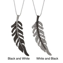 Victoria Kay Sterling Silver Diamond Feather Necklace
