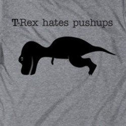 Men's 'T-Rex Hates Pushups' Cotton T-shirt