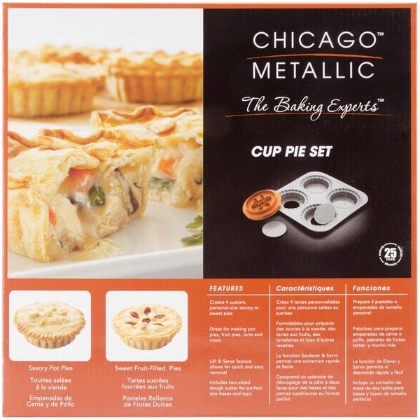 Chicago Metallic 4-cavity Cup Pie Set