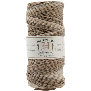 Earthy Variegated HS20VA 20-pound-weight 205-foot Hemp Cord Spool