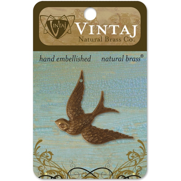 Vintaj Fanciful Bird Metal Accent