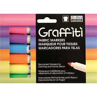 Fluorescent Graffiti Fabric Marker (Pack of 5)