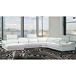 Maxima 4 Piece White Bonded Leather Sectional Sofa Free It S  sc 1 st  Centerfieldbar.com : 4 piece leather sectional sofa - Sectionals, Sofas & Couches