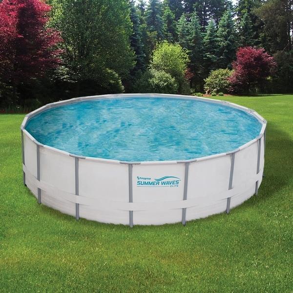 Summer Waves Elite Metal Frame Swimming Pool Package. Opens flyout.