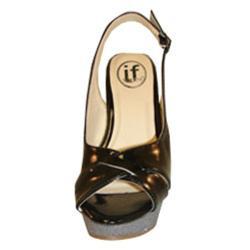 Carrini Women's Patent Slingback Wedge Sandals