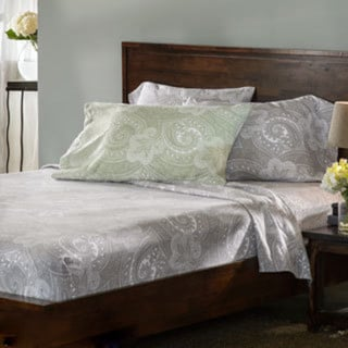 German Luxury Paisley Print 6-ounce Flannel Sheet Sets