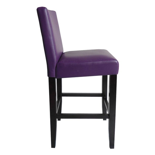 Superb Villa Faux Leather Boysenberry Counter Stools Set Of 2 Andrewgaddart Wooden Chair Designs For Living Room Andrewgaddartcom