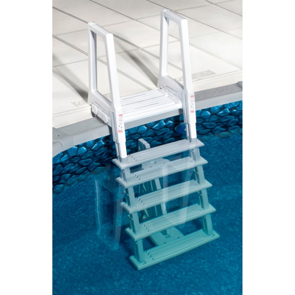 above ground wedding cake pool steps blue wave heavy duty in ladder for