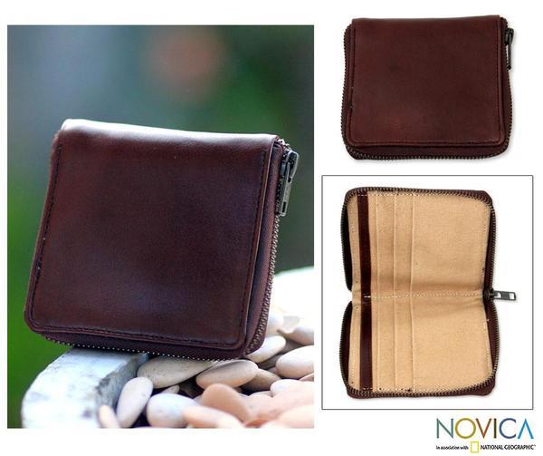 Men's Leather 'Kintamani' Wallet (Indonesia)