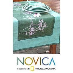 Handmade Cotton 'Flower Breeze' Table Runner (Thailand) https://ak1.ostkcdn.com/images/products/6549530/PCI/79/71/Cotton-Flower-Breeze-Table-Runner-Thailand-P79071662.jpg?impolicy=medium