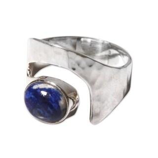 Handmade Sterling Silver 'Balance' Lapis Lazuli Ring (Peru) (3 options available)
