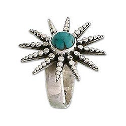 Sterling Silver 'Balinese Sunshine' Turquoise Ring (Indonesia)