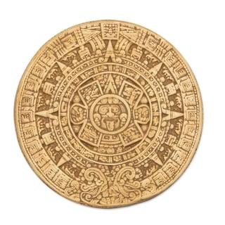 Link to Ceramic 'Small Ochre Aztec Calendar' Plaque Similar Items in Wall Sculptures