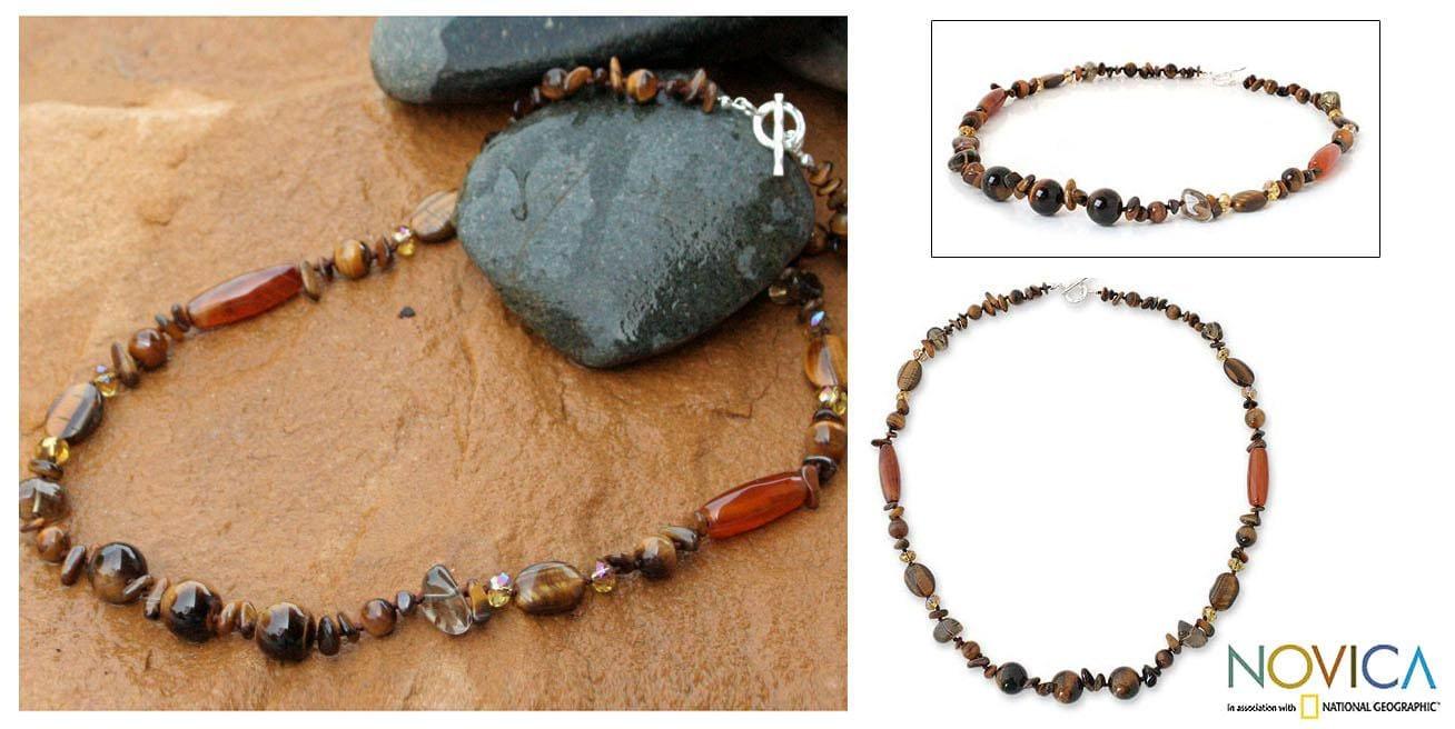 Handmade Multi-gemstone 'Exotic Chiang Mai' Necklace (Thailand)