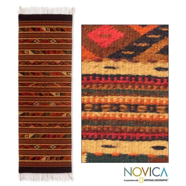 Shop Mex Wool 'Life In Oaxaca' Zapotec Rug (Mexico)