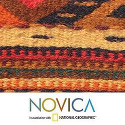Handmade Mex Wool Life In Oaxaca Zapotec Rug 2 5x10