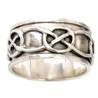 Handmade Sterling Silver Men's 'Chains' Spinner Ring (Indonesia)