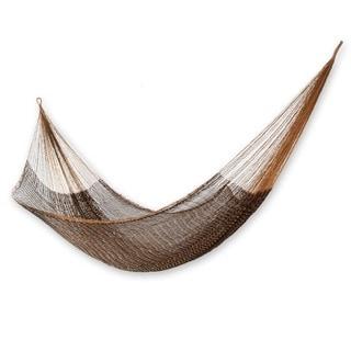 Handmade Nylon 'Caribbean Mambo' Hammock Large Deluxe (Mexico)