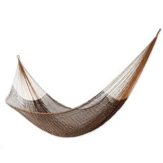 Nylon 'Caribbean Mambo' Hammock , Handmade in Mexico