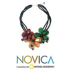 Handcrafted Multi-gemstone 'Sparkling Bouquet' Necklace (Thailand) - Thumbnail 1