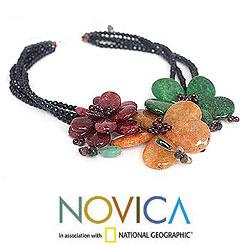 Handcrafted Multi-gemstone 'Sparkling Bouquet' Necklace (Thailand) - Thumbnail 2