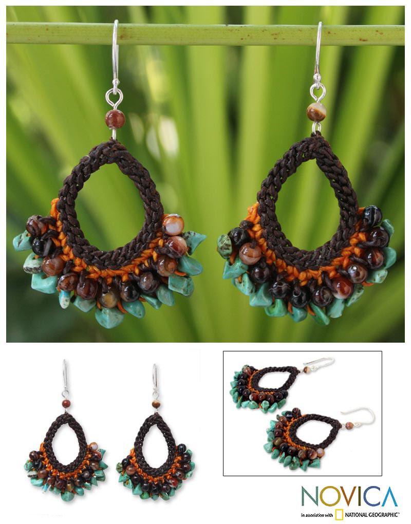 Handmade Multi-gemstone 'Deva Destiny' Earrings (Thailand)