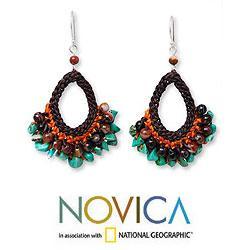 Handcrafted Multi-gemstone 'Deva Destiny' Earrings (Thailand)