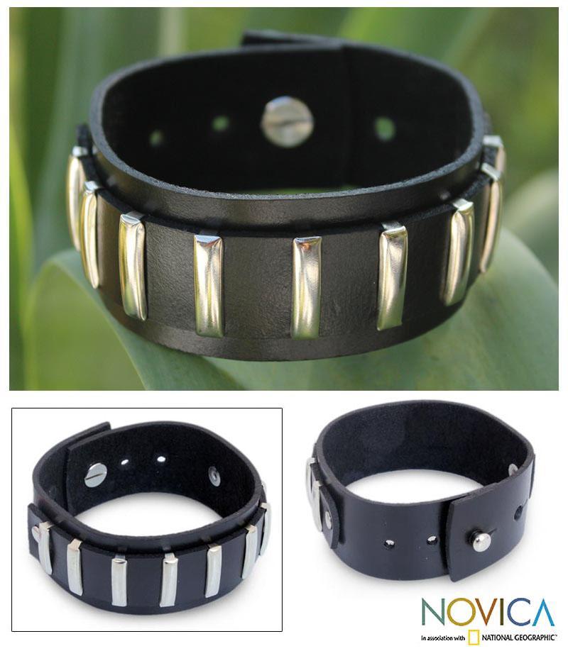 Leather 'Thai Melody' Bracelet (Thailand)