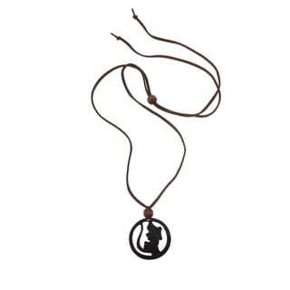 Coconut Shell 'Lucky Gecko' Necklace (Indonesia)