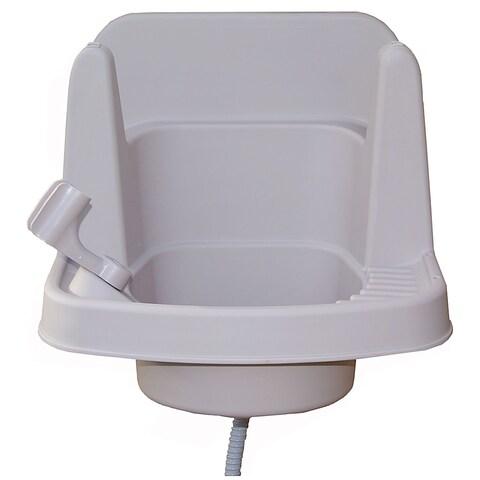 Riverstone 16-inche White Outdoor Garden Sink