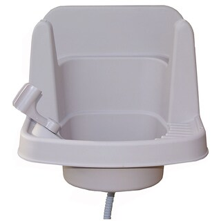 Riverstone 16-inche White Outdoor Garden Sink