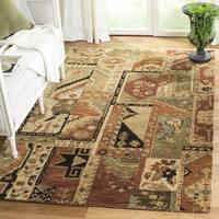 Safavieh Handmade Patchwork Multi Hand-spun Wool Rug (4' x 6') - 4' x 6'