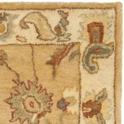Safavieh Handmade Zeigler Taupe/ Ivory Hand-spun Wool Rug (3' x 5') - Thumbnail 1