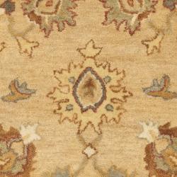 Safavieh Handmade Zeigler Taupe/ Ivory Hand-spun Wool Rug (3' x 5') - Thumbnail 2