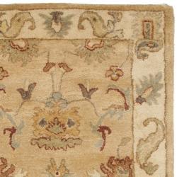 Safavieh Handmade Zeigler Taupe/ Ivory Hand-spun Wool Rug (2'3 x 8') - Thumbnail 1
