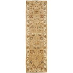 Safavieh Handmade Zeigler Taupe/ Ivory Hand-spun Wool Rug (2'3 x 8')