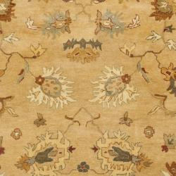 Safavieh Handmade Zeigler Taupe/ Ivory Hand-spun Wool Rug (9'6 x 13'6) - Thumbnail 2