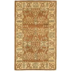 Safavieh Handmade Tree Light Brown/ Beige Hand-spun Wool Rug (4' x 6')