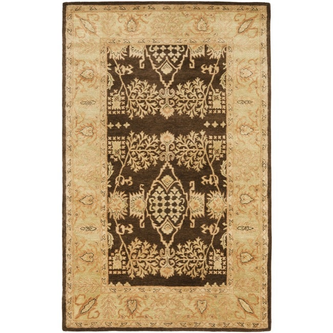 Safavieh Handmade Tree Brown/ Light Green Hand-spun Wool Rug (5' x 8')