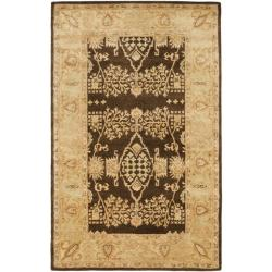Safavieh Handmade Tree Brown/ Light Green Hand-spun Wool Rug (5' x 8')