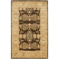 Safavieh Handmade Tree Brown/ Light Green Hand-spun Wool Rug - 5' x 8'