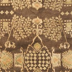 Safavieh Handmade Tree Brown/ Light Green Hand-spun Wool Rug (6' x 9') - Thumbnail 2