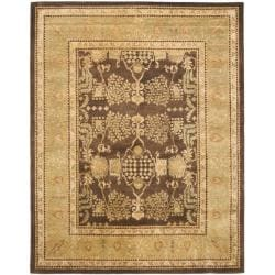 Safavieh Handmade Tree Brown/ Light Green Hand-spun Wool Rug (8' x 10')